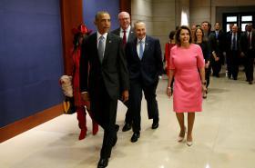 Barack Obama na půdě Kongresu