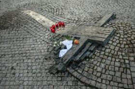 Pomník Jana Palacha a Jana Zajíce na Václavském náměstí