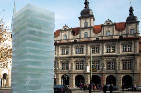 Ledový sloup na Malostranském náměstí