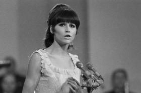 Marta Kubišová na vyhlašování ankety Zlatý slavík 1966