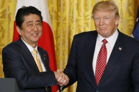 Šinzó Abe a Donald Trump