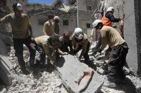 Práce Bílých helem v Sýrii
