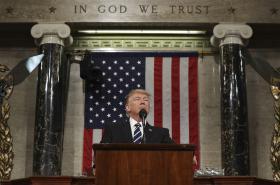 Trumpův první projev v Kongresu
