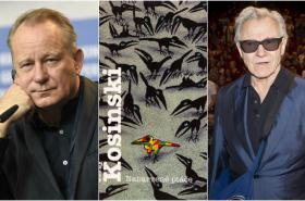 Herci filmu Nabarvené ptáče: Stellan Skarsgård a Harvey Keitel