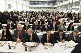 Delegáti sjezdu sociální demokracie