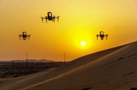 Čeští droni v poušti