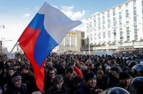 Protest proti korupci v Moskvě