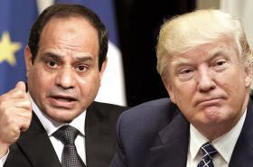 Abdal Fattáh Sísí a Donald Trump