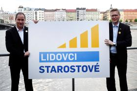 Petr Gazdík a Pavel Bělobrádek představují nové logo