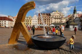 Kašna na náměstí Republiky v Plzni