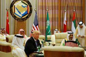 Donald Trump při návštěvě Saúdské Arábie