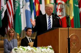 Trumpův projev v Saúdské Arábii