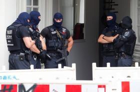 Policejní razie v berlínské čtvrti Neukölln