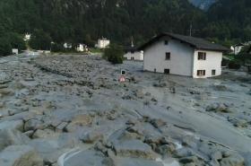 Skalní sesuv ve Švýcarsku