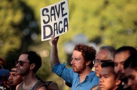 Protest proti zrušení vízového programu pro dětské migranty