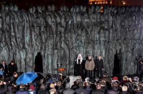 Odhalení památníku obětem stalinistického režimu
