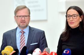 Petr Fiala a Alexandra Udženija