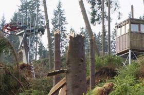 Zničený skiareál Bublava