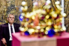 Milož Zeman při otevření moskevské výstavy Poklady Pražského hradu