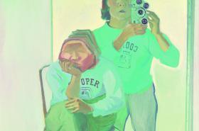 Maria Lassnig / Dvojitý autoportrét s fotoaparátem
