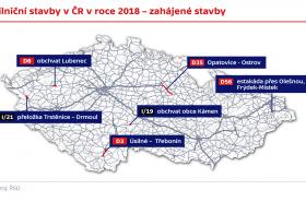 Silniční stavby v ČR v roce 2018 – zahájené stavby
