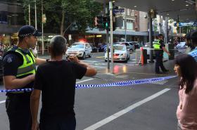 Policie na místě činu v Melbourne