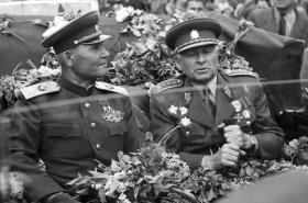 Ivan Koněv s Ludvíkem Svobodou