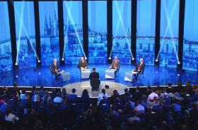 Debata čtyř prezidentských kandidátů o domácí politice