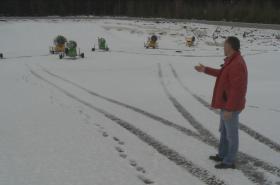 Zásobník sněhu pro Vysočina arénu
