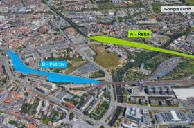 Obě varianty budoucí polohy brněnského hlavního nádraží