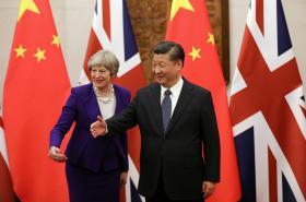 Čínský prezident a britská premiérka