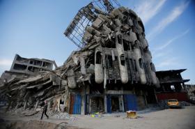 Budovy zničené během bojů v Mosulu