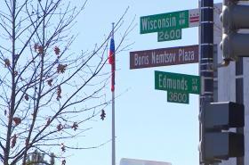 Část ulice ve Washingtonu pojjmenovaná po Němcovovi