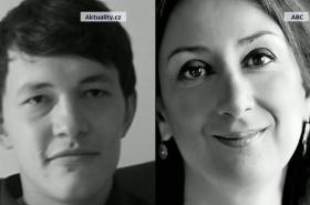 Ján Kuciak a Daphne Caruane Galiziová
