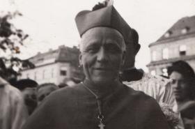 Kardinál Josef Beran v Plzni (1947)