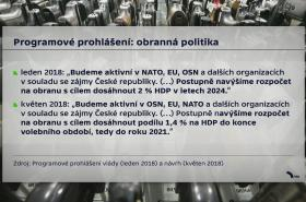 Srovnání programového prohlášení vlád Andreje Babiše (ANO)
