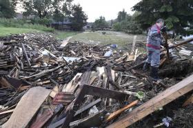 Důsledky bouřky v Jestřebí u Brtnice
