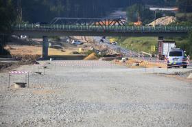 Rozestavěný úseku dálnice D3 Ševětín–Borek
