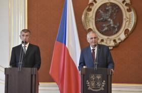 Prezident Miloš Zeman a Andrej Babiš