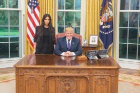 Kardashianová v Oválné pracovně