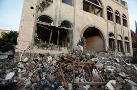 Zkáza v Saná po leteckém úderu