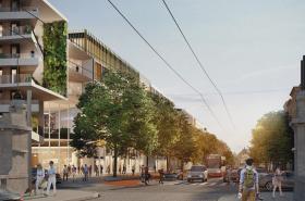 Vizualizace nové čtvrti v Plzni