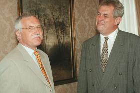 Václav Klaus a Miloš Zeman v roce 1998
