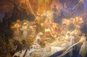 Apoteóza z dějin Slovanstva, 1926, vaječná tempera, olej, plátno, 480 x 405 cm