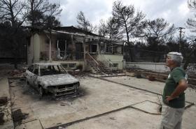 Důsledky požárů v řecké Rafině
