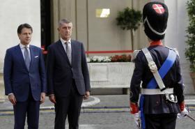 Andrej Babiš s italským premiérem Giuseppem Contem