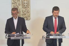 Andrej Babiš (ANO) a Jan Hamáček (ČSSD)