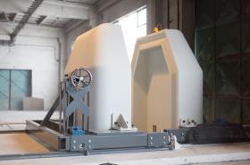 Mobilní sarkofág pro stínění při výrobě radiofarmak od firmy NUVIA pro nemocnici v Japonsku