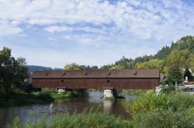 Radošovský dřevěný most přes Ohři