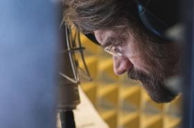 Dan Bárta při nahrávání alba Vánoce dospělých